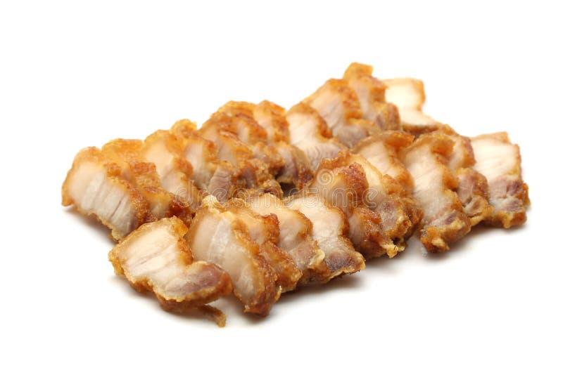 Τριζάτο χοιρινό κρέας στο άσπρο υπόβαθρο στοκ εικόνες με δικαίωμα ελεύθερης χρήσης