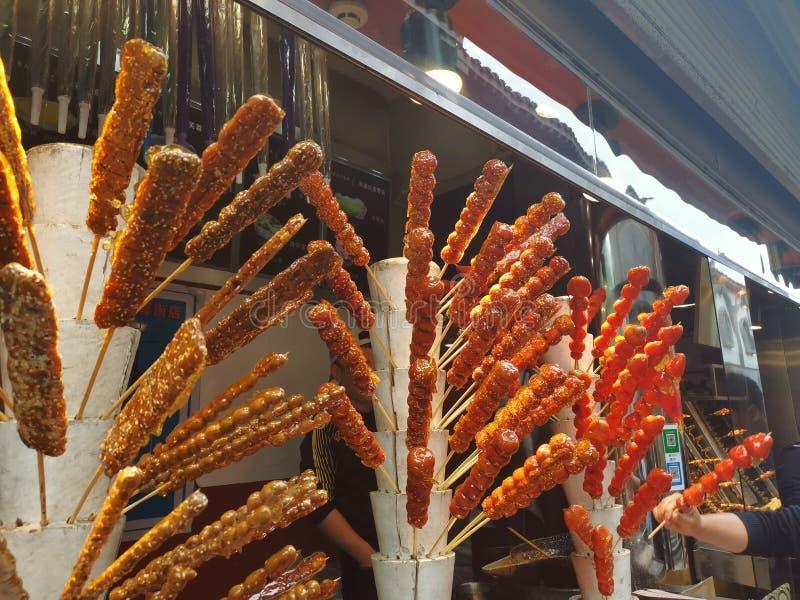 Τριζάτο BBQ χοιρινό κρέας - οδός Furong τροφίμων οδών @, Jinan Shandong Κίνα στοκ φωτογραφία με δικαίωμα ελεύθερης χρήσης