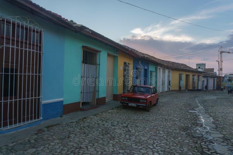 Τρινιδάδ, Κούβα, στις 3 Ιανουαρίου 2017: άποψη οδών του Τρινιδάδ Τουριστική θέση από την Κούβα στοκ εικόνα