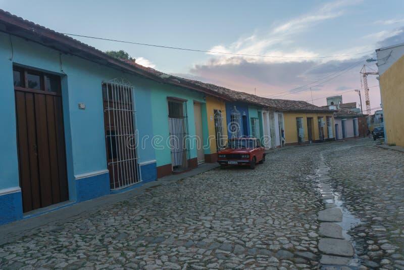 Τρινιδάδ, Κούβα, στις 3 Ιανουαρίου 2017: άποψη οδών του Τρινιδάδ Τουριστική θέση από την Κούβα στοκ φωτογραφίες με δικαίωμα ελεύθερης χρήσης