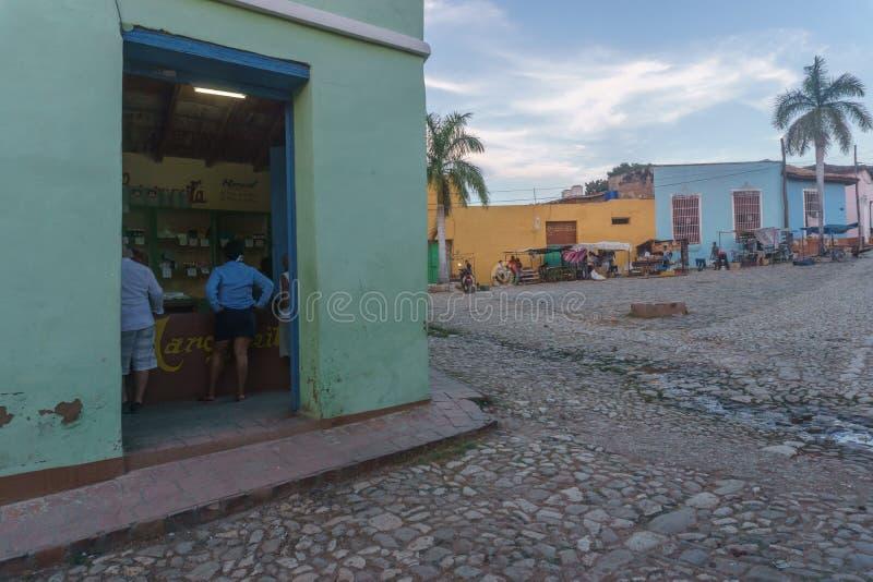 Τρινιδάδ, Κούβα, στις 3 Ιανουαρίου 2017: άποψη οδών του Τρινιδάδ Τουριστική θέση από την Κούβα στοκ φωτογραφία