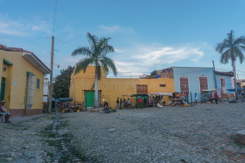 Τρινιδάδ, Κούβα, στις 3 Ιανουαρίου 2017: άποψη οδών του Τρινιδάδ Τουριστική θέση από την Κούβα στοκ εικόνες
