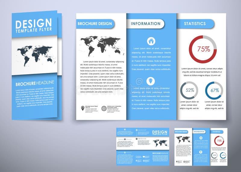 Τριπλάσιο προτύπων που διπλώνει το υλικό ύφους σχεδίου φυλλάδιων απεικόνιση αποθεμάτων