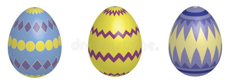 τρισδιάστατα αυγά Πάσχας ελεύθερη απεικόνιση δικαιώματος