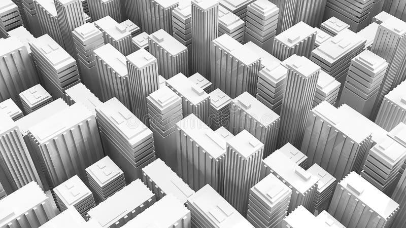 τρισδιάστατα κτήρια απόδοσης για την έννοια οικοδόμησης ελεύθερη απεικόνιση δικαιώματος