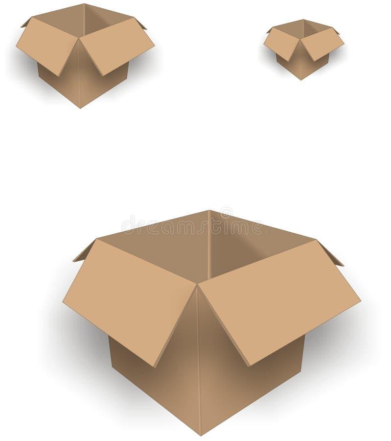 τρισδιάστατα μεγέθη κιβωτίων απεικόνιση αποθεμάτων