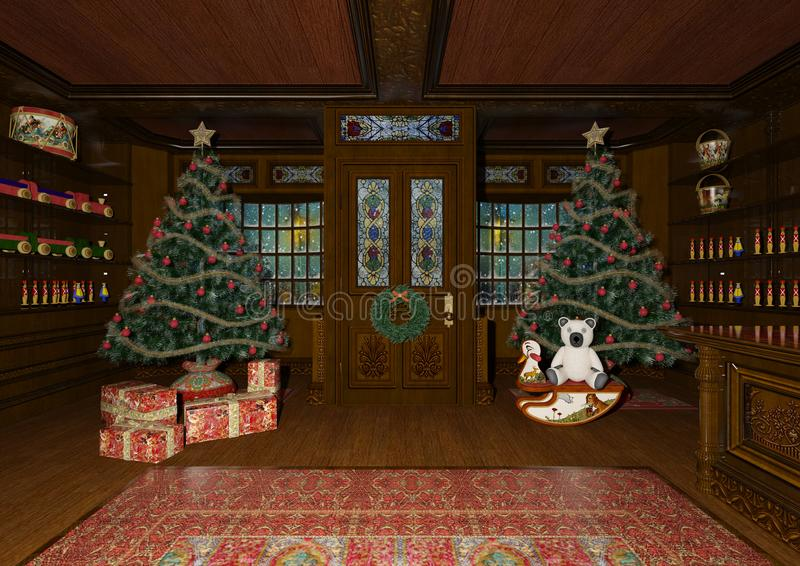 τρισδιάστατα παιχνίδια Χριστουγέννων απόδοσης απεικόνιση αποθεμάτων