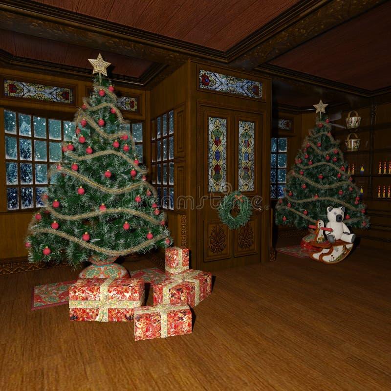 τρισδιάστατα παιχνίδια Χριστουγέννων απόδοσης διανυσματική απεικόνιση