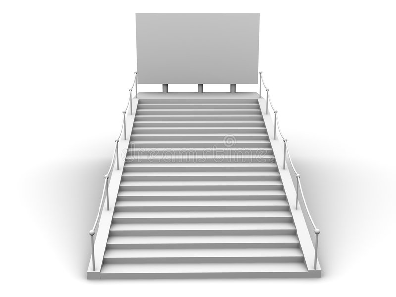 τρισδιάστατα σκαλοπάτια bigboard απεικόνιση αποθεμάτων