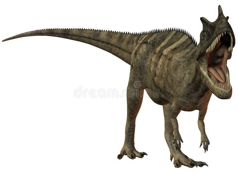 τρισδιάστατα nasicornis δεινοσαύρων ceratosaurus ελεύθερη απεικόνιση δικαιώματος