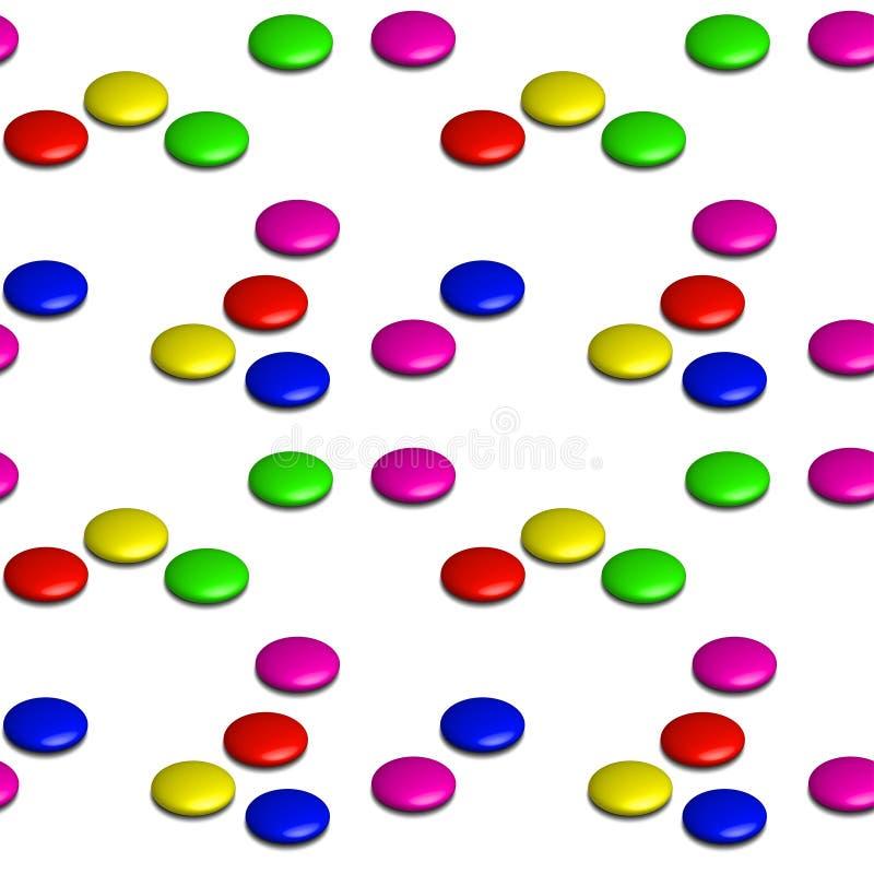 τρισδιάστατες βερνικωμένες σοκολάτες confectionery Ή ακριβώς κουμπιά seamless διανυσματική απεικόνιση