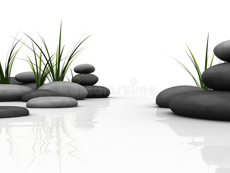τρισδιάστατες πέτρες ελεύθερη απεικόνιση δικαιώματος