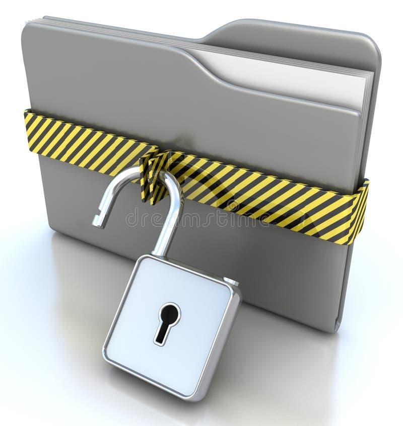 τρισδιάστατη έννοιας στοιχείων ασφάλεια κλειδωμάτων γραμματοθηκών γκρίζα διανυσματική απεικόνιση