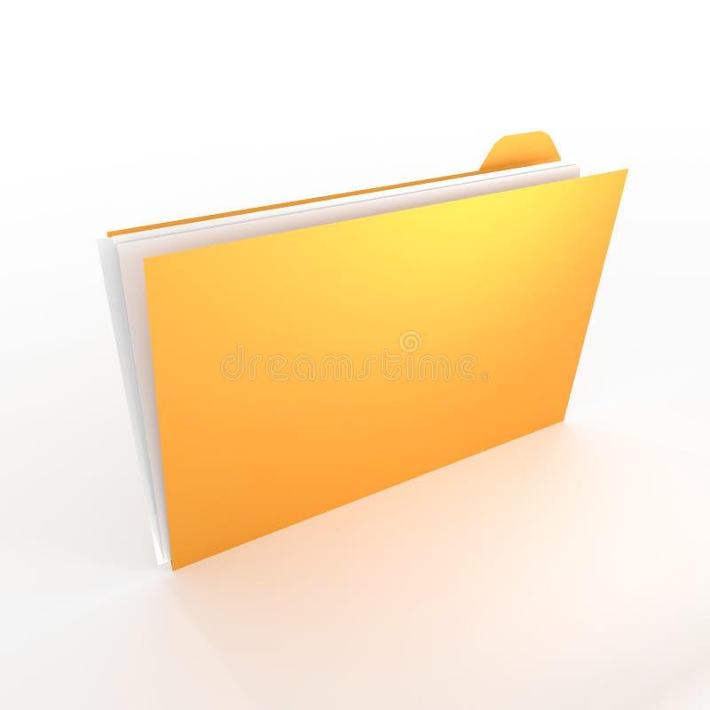 τρισδιάστατη έννοια φακέλλων - μεγάλη για τα θέματα όπως το γραφείο, τα έγγραφα, τα στοιχεία, την έρευνα κ.λπ. ελεύθερη απεικόνιση δικαιώματος