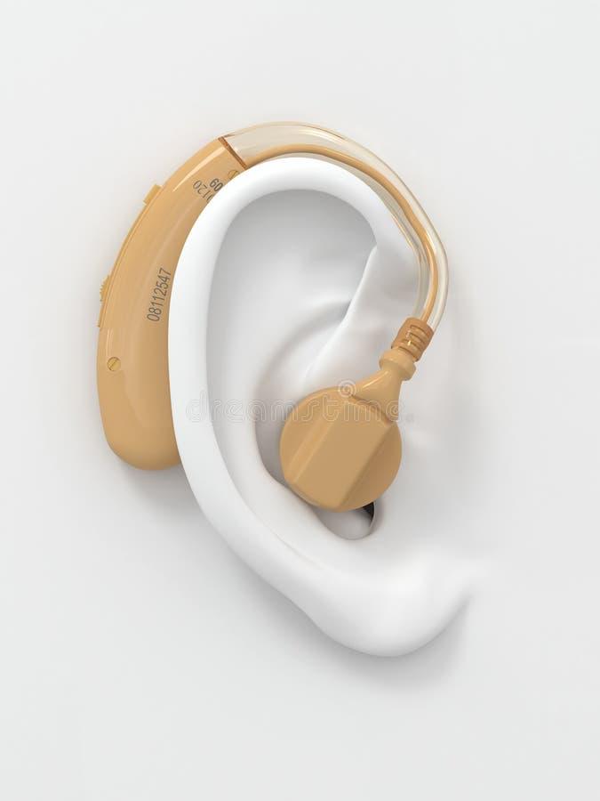 τρισδιάστατη ακρόαση αυτιών ενίσχυσης διανυσματική απεικόνιση