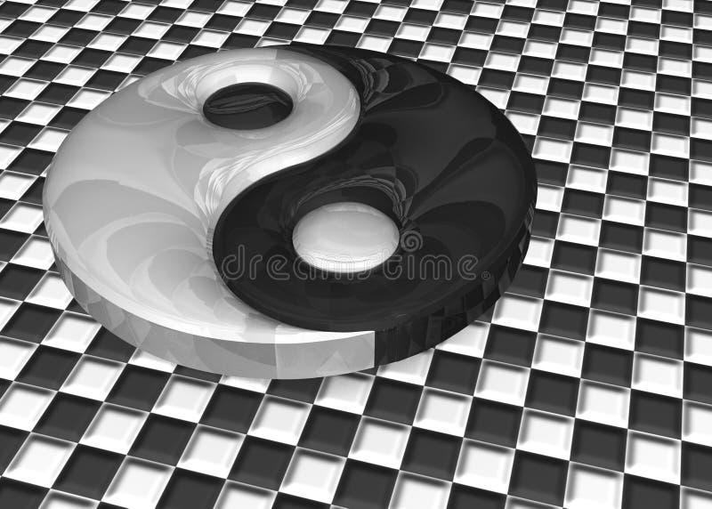 τρισδιάστατη απεικόνιση Ένα σημάδι yin yang ελεύθερη απεικόνιση δικαιώματος