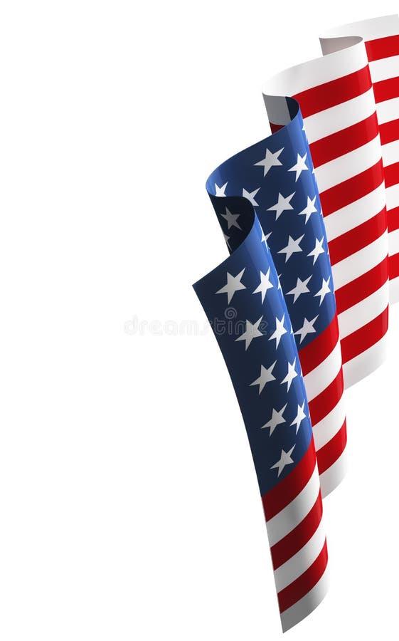 Τρισδιάστατη απεικόνιση αμερικανικών σημαιών στοκ φωτογραφίες