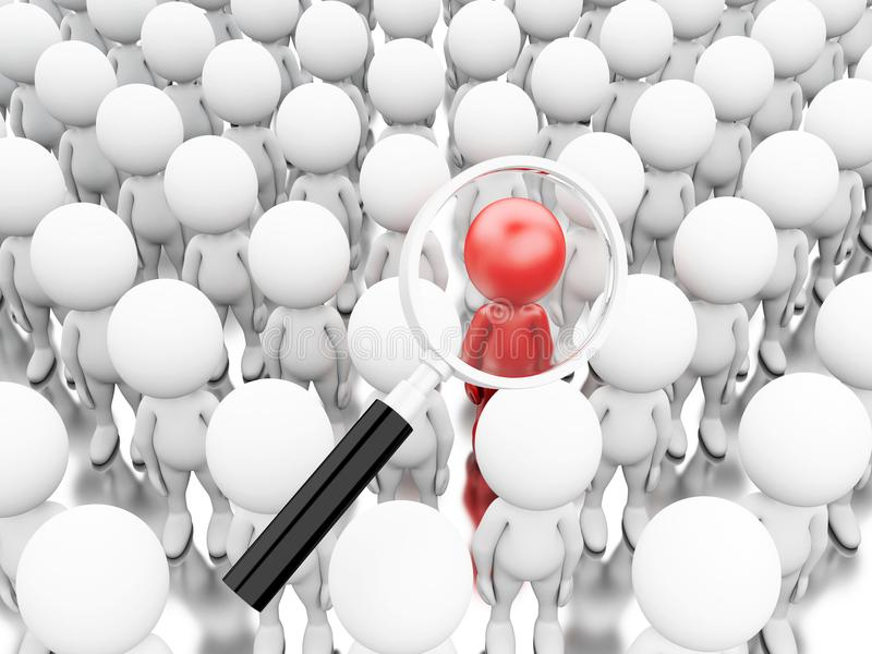 τρισδιάστατη απεικόνιση Ενίσχυση - γυαλί που παίρνει έναν νέο εργαζόμενο απεικόνιση αποθεμάτων