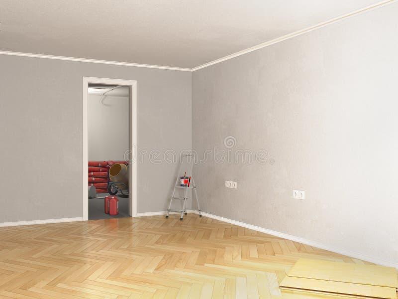 Τρισδιάστατη απεικόνιση επισκευής δωματίων απεικόνιση αποθεμάτων