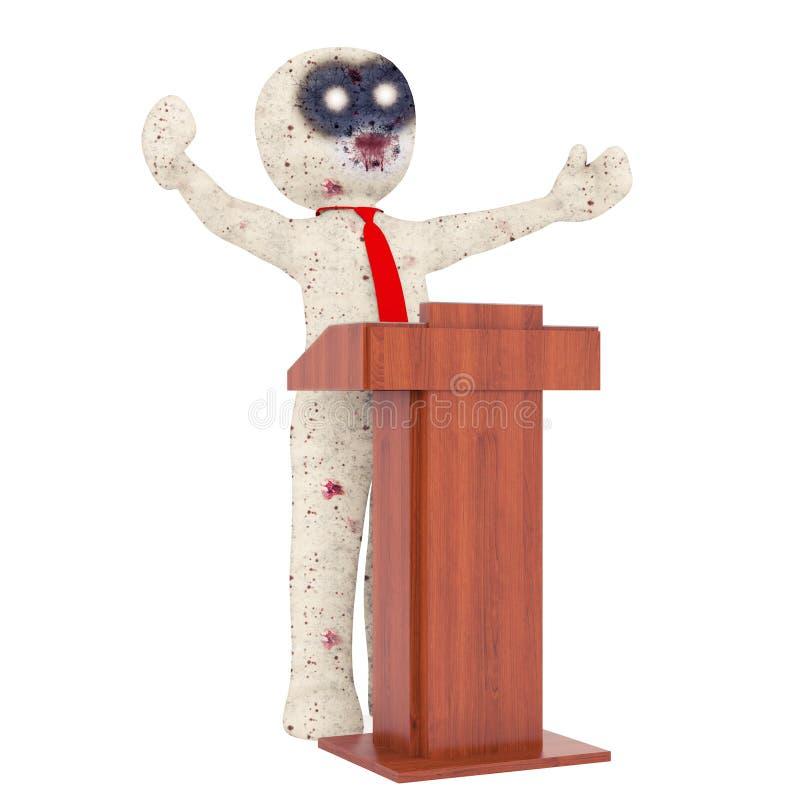 τρισδιάστατη απεικόνιση ιεροκηρύκων Zombie ατόμων στοκ εικόνες