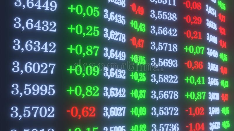 τρισδιάστατη απεικόνιση συναλλαγματικής ισοτιμίας δολαρίων απεικόνιση αποθεμάτων