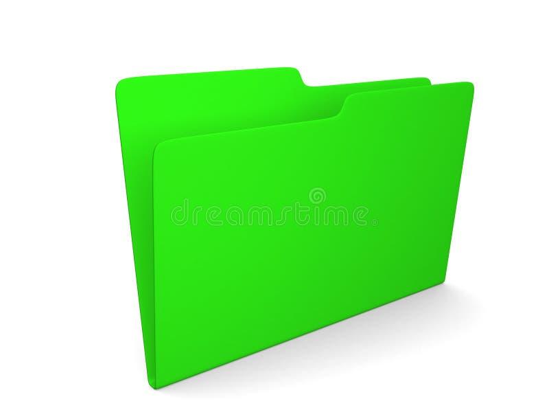 τρισδιάστατη απεικόνιση της κενής πράσινης γραμματοθήκης στοκ εικόνες
