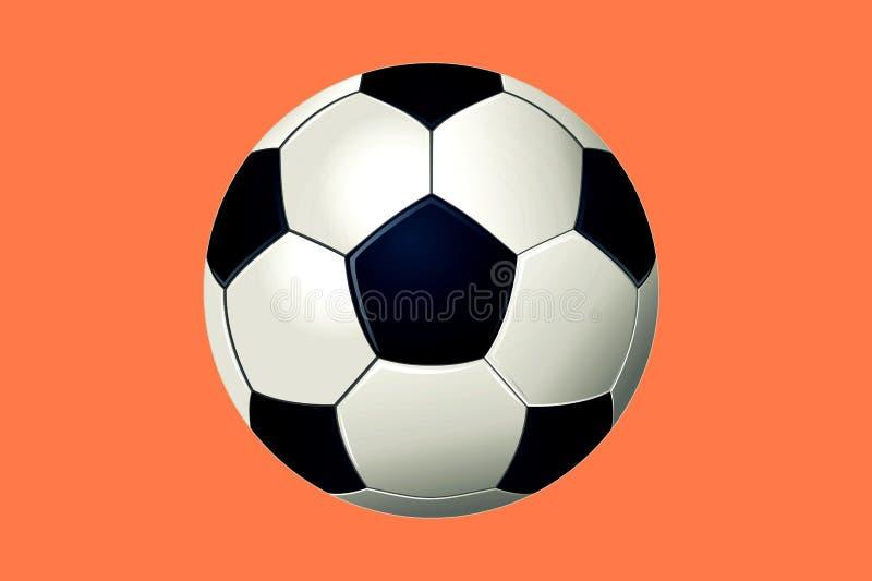 τρισδιάστατη απεικόνιση της σφαίρας ποδοσφαίρου διανυσματική απεικόνιση