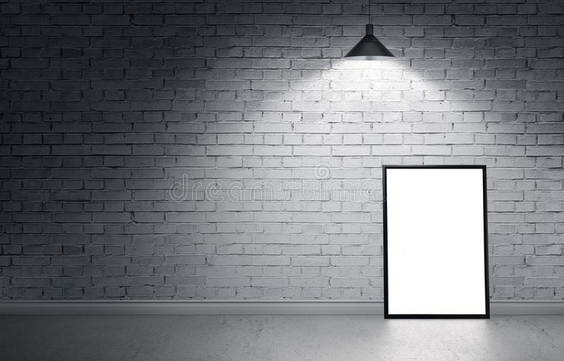 τρισδιάστατη απεικόνιση της χλεύης αφισών επάνω στο βρώμικο εσωτερικό διανυσματική απεικόνιση