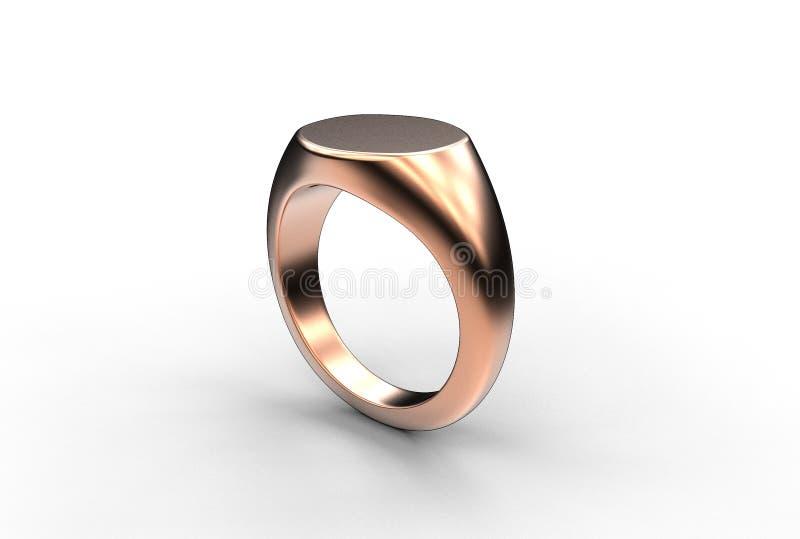 τρισδιάστατη απεικόνιση του δαχτυλιδιού signet ελεύθερη απεικόνιση δικαιώματος