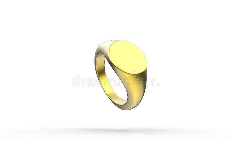 τρισδιάστατη απεικόνιση του δαχτυλιδιού signet απεικόνιση αποθεμάτων