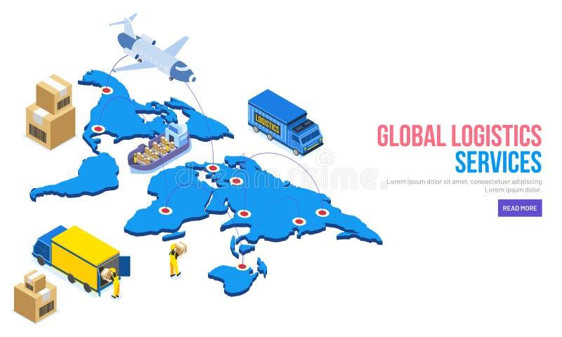 τρισδιάστατη απεικόνιση του παγκόσμιου χάρτη με το mappin, το αεροπλάνο, το σκάφος και το αυτοκίνητο απεικόνιση αποθεμάτων