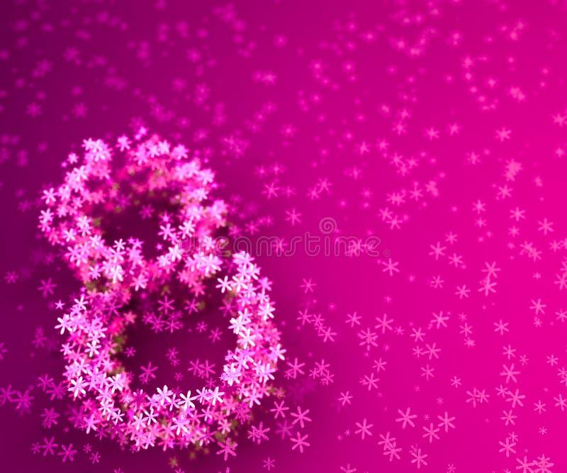τρισδιάστατη απεικόνιση του υποβάθρου λουλουδιών της 8ης Μαρτίου διανυσματική απεικόνιση