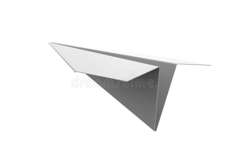 τρισδιάστατη απόδοση αεροπλάνων εγγράφου διανυσματική απεικόνιση