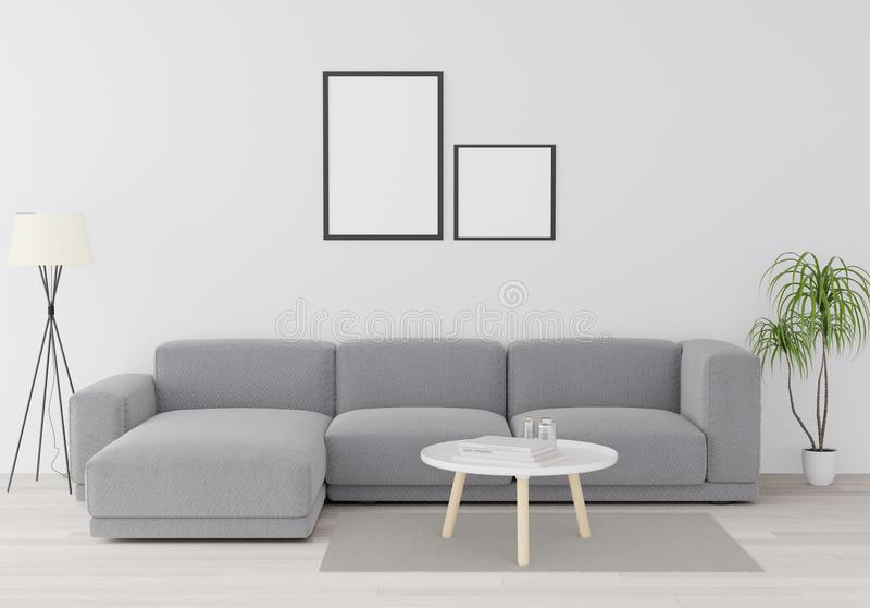τρισδιάστατη απόδοση, τρισδιάστατη απεικόνιση, χλεύη επάνω στην αφίσα με το εκλεκτής ποιότητας εσωτερικό υπόβαθρο σοφιτών μινιμαλ διανυσματική απεικόνιση