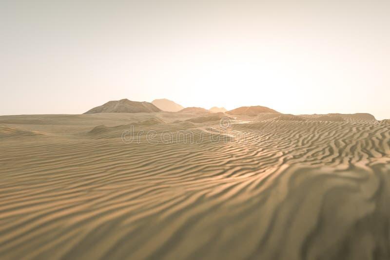 τρισδιάστατη απόδοση, η ευρεία έρημος, με τις μορφές λωρίδων απεικόνιση αποθεμάτων