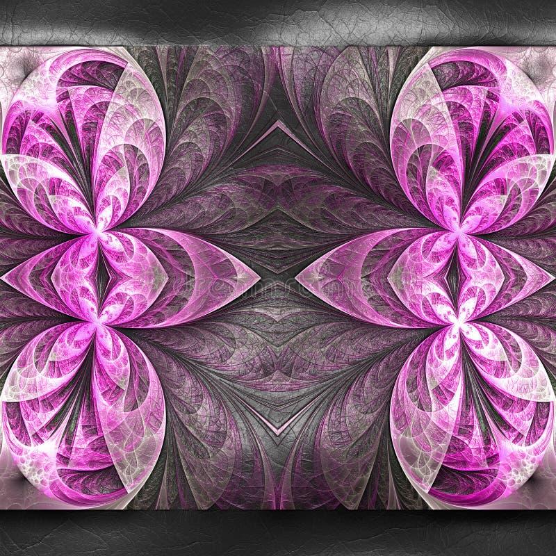 τρισδιάστατη απόδοση πλαστικό fractal στο δέρμα ελεύθερη απεικόνιση δικαιώματος
