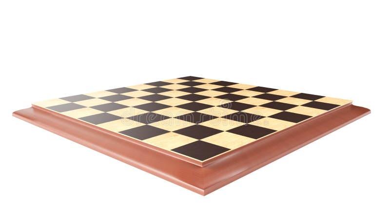 τρισδιάστατη απόδοση - σκακιέρα σε ένα άσπρο υπόβαθρο ελεύθερη απεικόνιση δικαιώματος