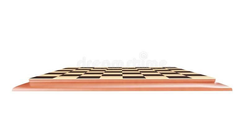 τρισδιάστατη απόδοση - σκακιέρα σε ένα άσπρο υπόβαθρο διανυσματική απεικόνιση