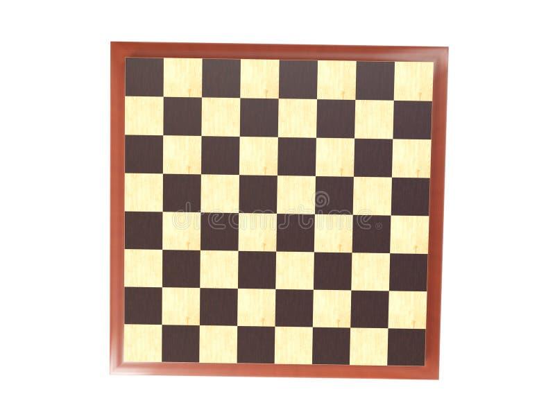 τρισδιάστατη απόδοση - σκακιέρα σε ένα άσπρο υπόβαθρο απεικόνιση αποθεμάτων