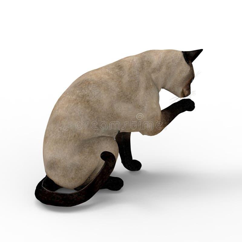 τρισδιάστατη απόδοση της γάτας που δημιουργείται με τη χρησιμοποίηση ενός εργαλείου μπλέντερ ελεύθερη απεικόνιση δικαιώματος