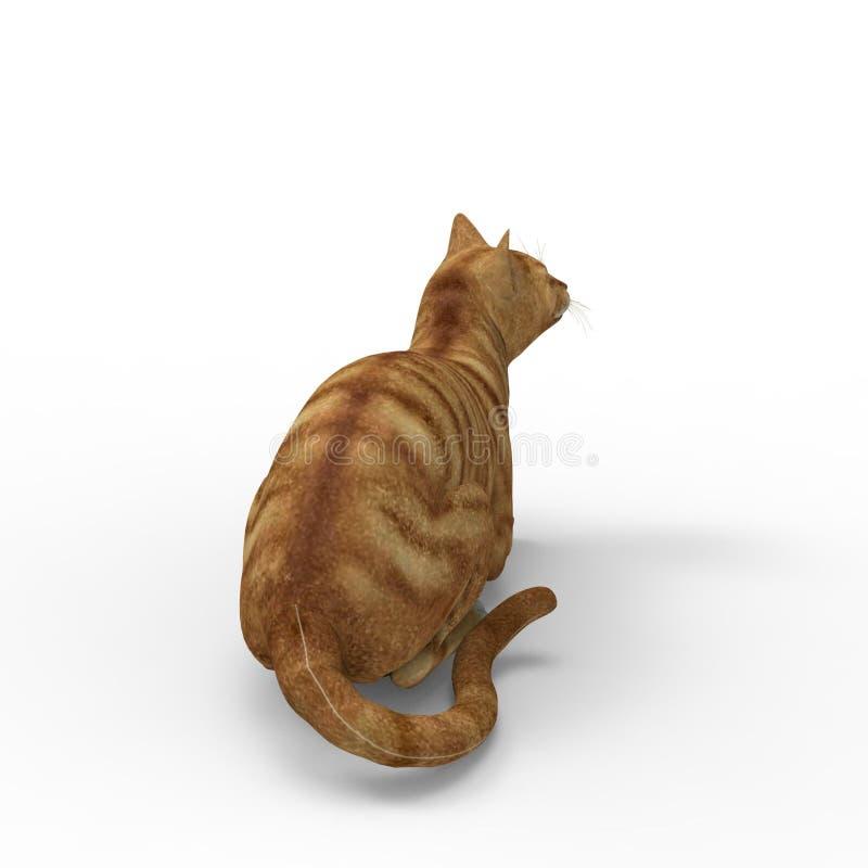 τρισδιάστατη απόδοση της γάτας που δημιουργείται με τη χρησιμοποίηση ενός εργαλείου μπλέντερ διανυσματική απεικόνιση