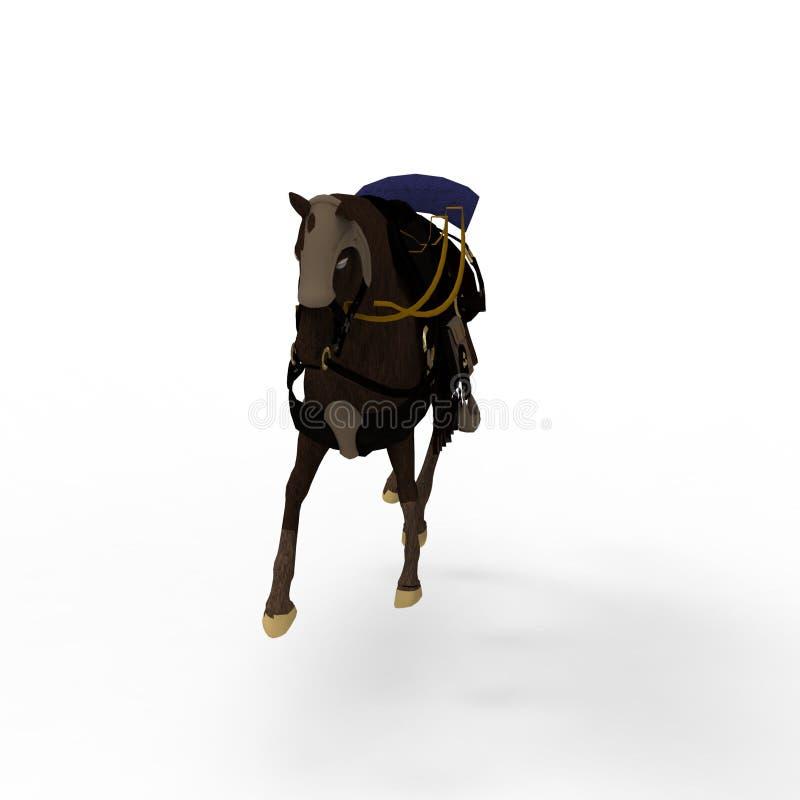 τρισδιάστατη απόδοση του αλόγου που δημιουργείται με τη χρησιμοποίηση ενός εργαλείου μπλέντερ διανυσματική απεικόνιση