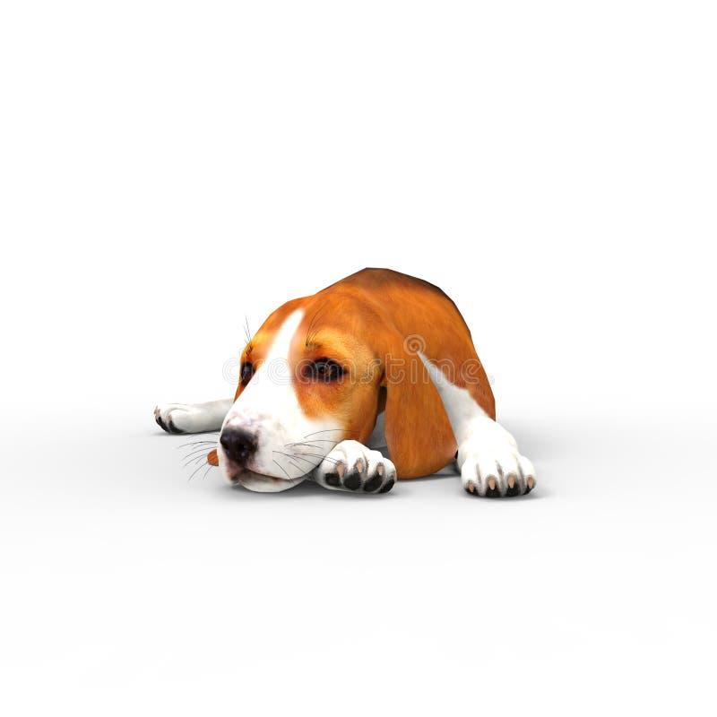 τρισδιάστατη απόδοση του σκυλιού που δημιουργείται με τη χρησιμοποίηση ενός εργαλείου μπλέντερ ελεύθερη απεικόνιση δικαιώματος