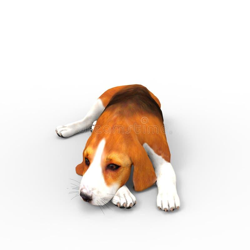 τρισδιάστατη απόδοση του σκυλιού που δημιουργείται με τη χρησιμοποίηση ενός εργαλείου μπλέντερ διανυσματική απεικόνιση