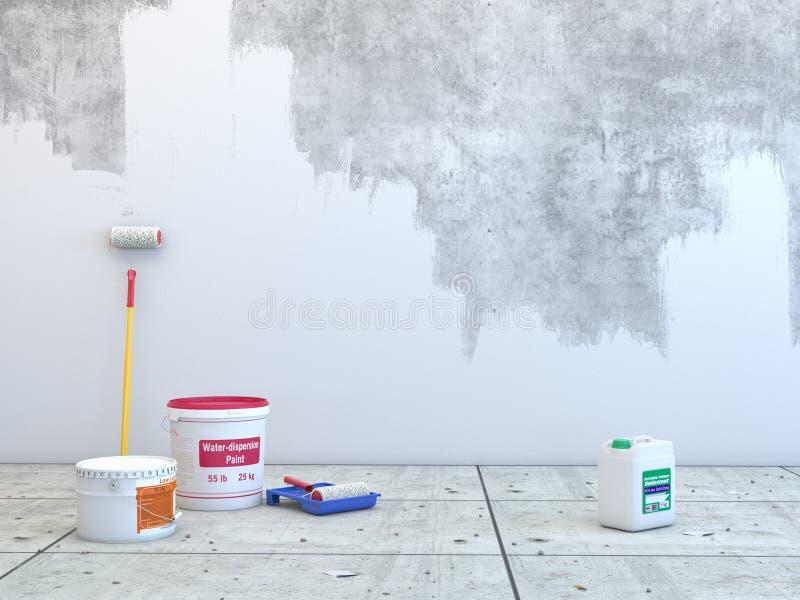 τρισδιάστατη απόδοση του τοίχου διανυσματική απεικόνιση