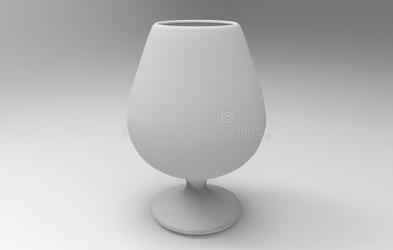 τρισδιάστατη απόδοση των γυαλιών κρασιού διανυσματική απεικόνιση