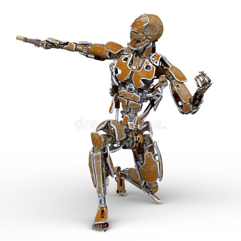 τρισδιάστατη απόδοση CG του ρομπότ ελεύθερη απεικόνιση δικαιώματος