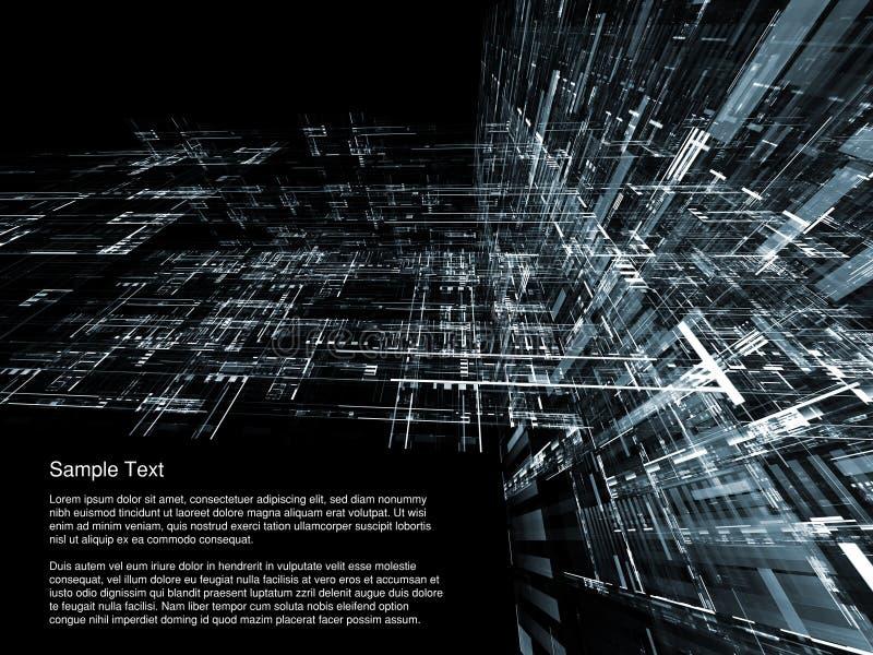 τρισδιάστατη αρχιτεκτον& διανυσματική απεικόνιση