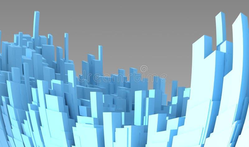 τρισδιάστατη αφηρημένη πόλη απεικόνιση αποθεμάτων