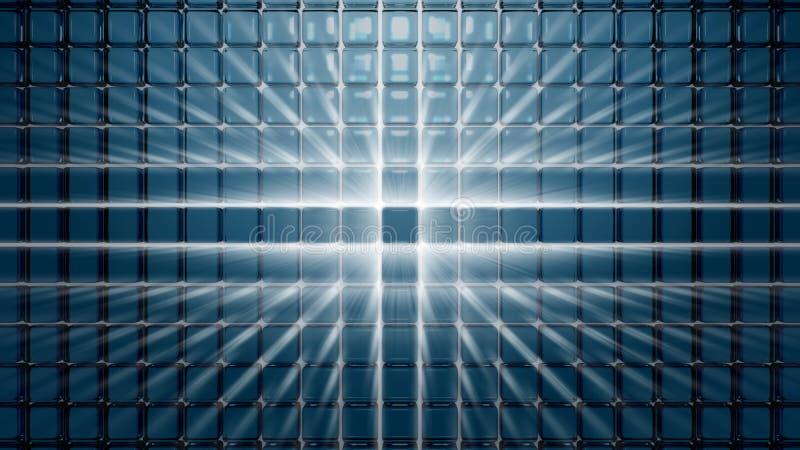 τρισδιάστατη αφηρημένη σύνθ&e διανυσματική απεικόνιση